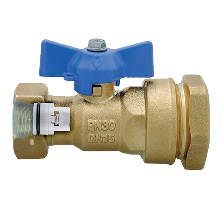 DZR Ball Valve with MDPE Pipe Connection & Female Swivel Nut