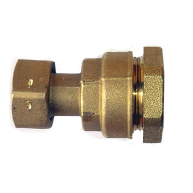 DZR Ball Valve Straight Coupler with Swivel Nut and Non Return Valve